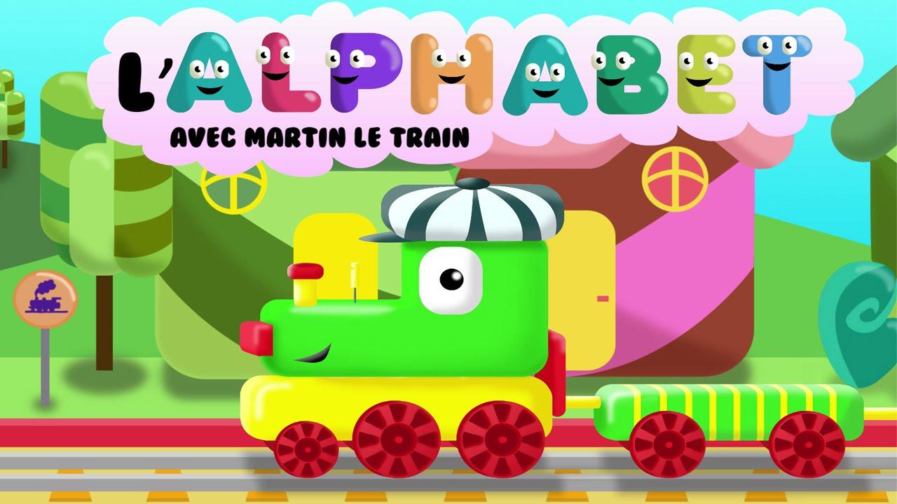 L'alphabet Avec Martin Le Train   Apprendre Les Lettres De L'alphabet Pour  Les Enfants Hd intérieur Jeux De Lettres Enfants