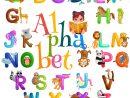 L'alphabet D'animaux A Placé Pour L'éducation D'abc D avec J Apprend L Alphabet Maternelle