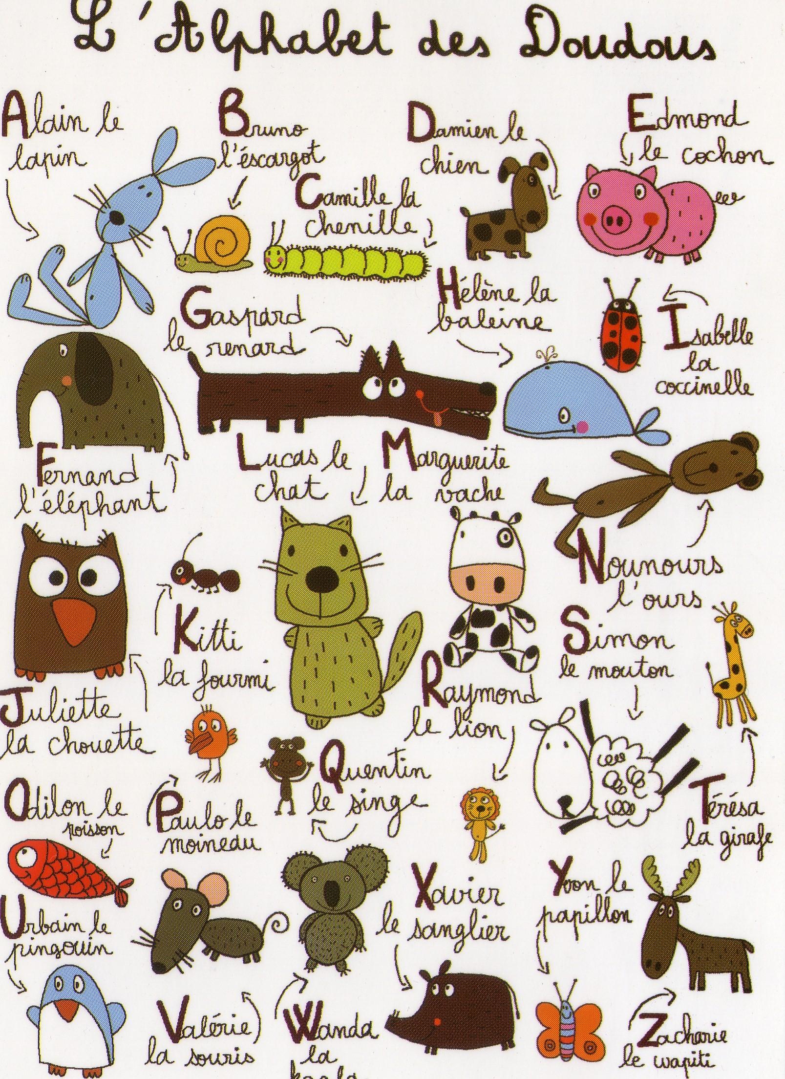 L'alphabet Des Doudous | C'est Super! destiné Apprendre Alphabet Francais