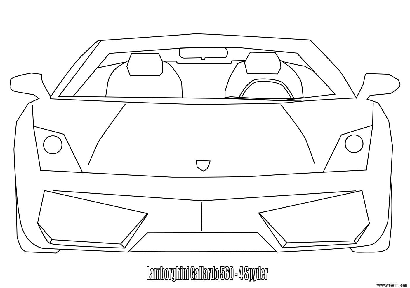 Lamborghini Gallardo : Coloriage Lamborghini Gallardo À destiné Ferrari A Colorier