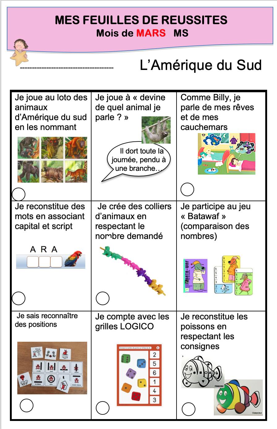L'amérique Du Sud - La Maternelle De Vivi pour Imagier Noel Maternelle