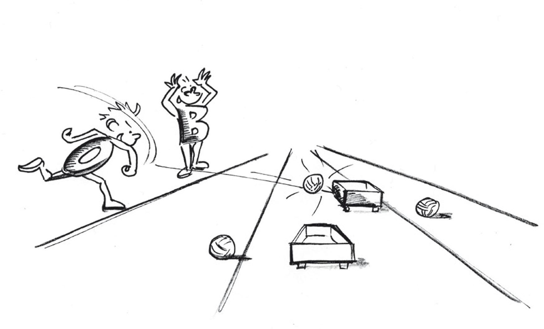 Lancer: Déplacer Un Élément De Caisson Avec Des Balles dedans Exercice Ludique