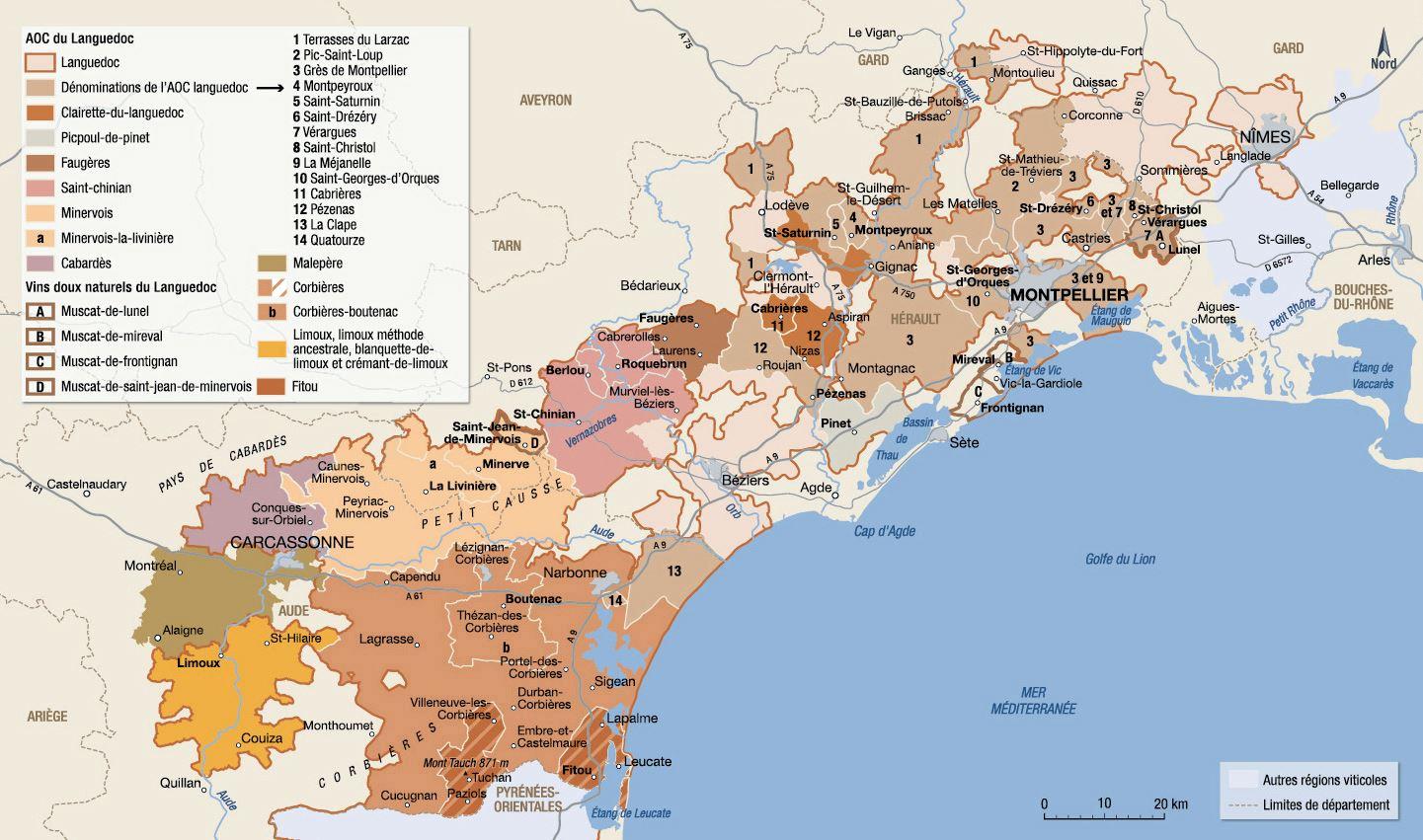 Languedoc-Roussillon Haritaları | İndirme Için Yüksek intérieur Carte Region Departement