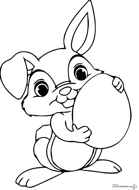 Lapin #105 (Animaux) – Coloriages À Imprimer avec Dessin De Lapin A Imprimer