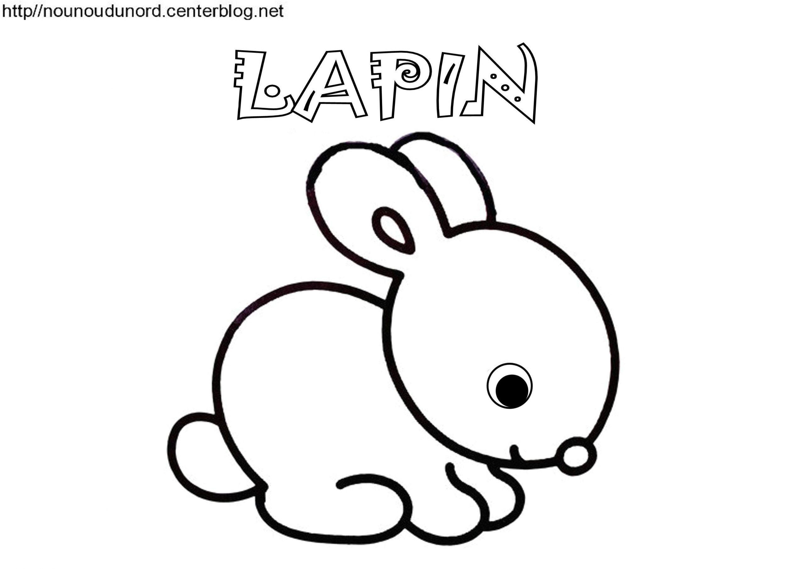 Lapin Bébé De Pâques Coloriage, Pour Gommettes, En Couleur dedans Dessin De Lapin A Imprimer