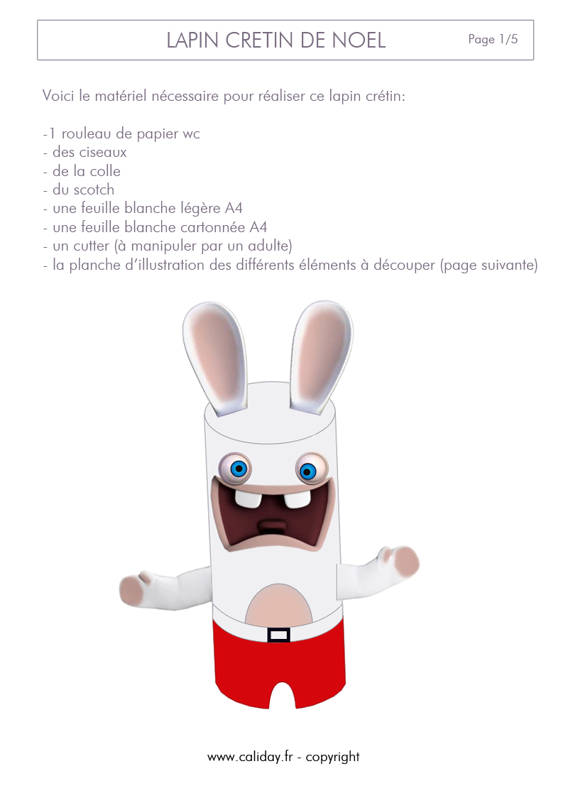 Lapin Crétin De Noël serapportantà Lapin Crétin À Colorier