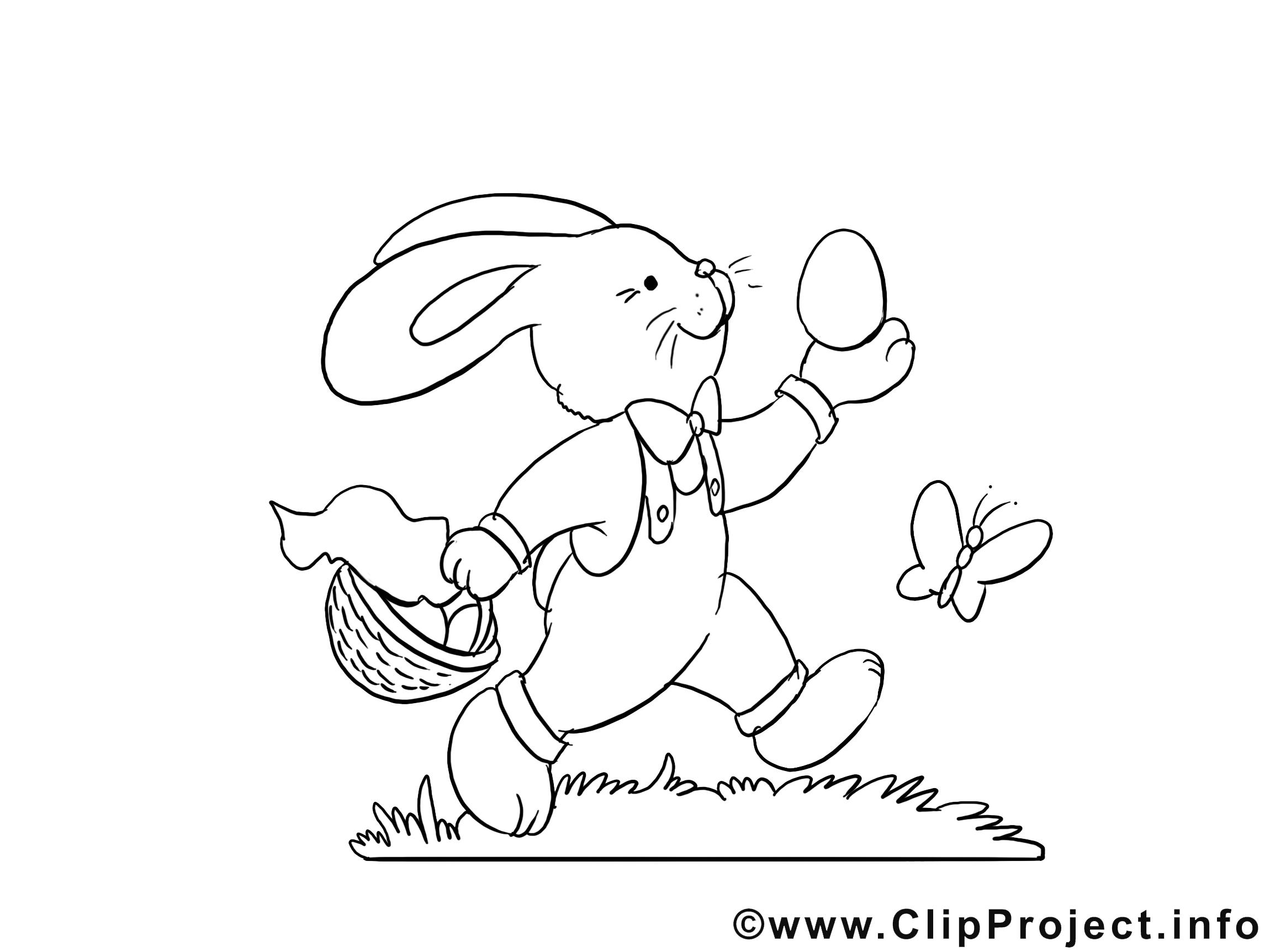Lapin Dessin À Imprimer - Pâques Clip Arts Gratuits - Pâques concernant Dessin De Lapin A Imprimer