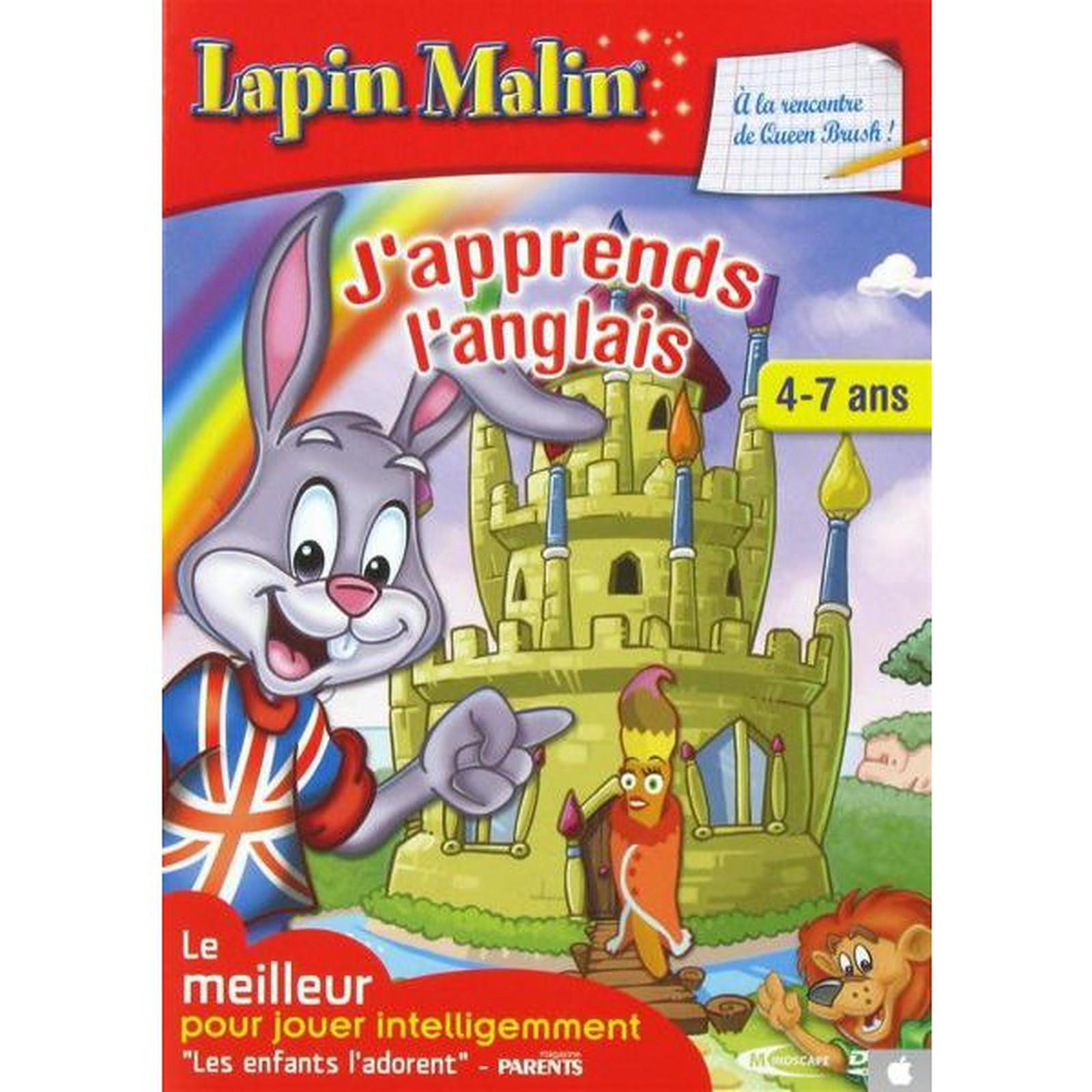 Lapin Malin - J'apprends L'anglais - 4/7 Ans (Pc) - Jeux Pc pour Jeu Pc Adibou