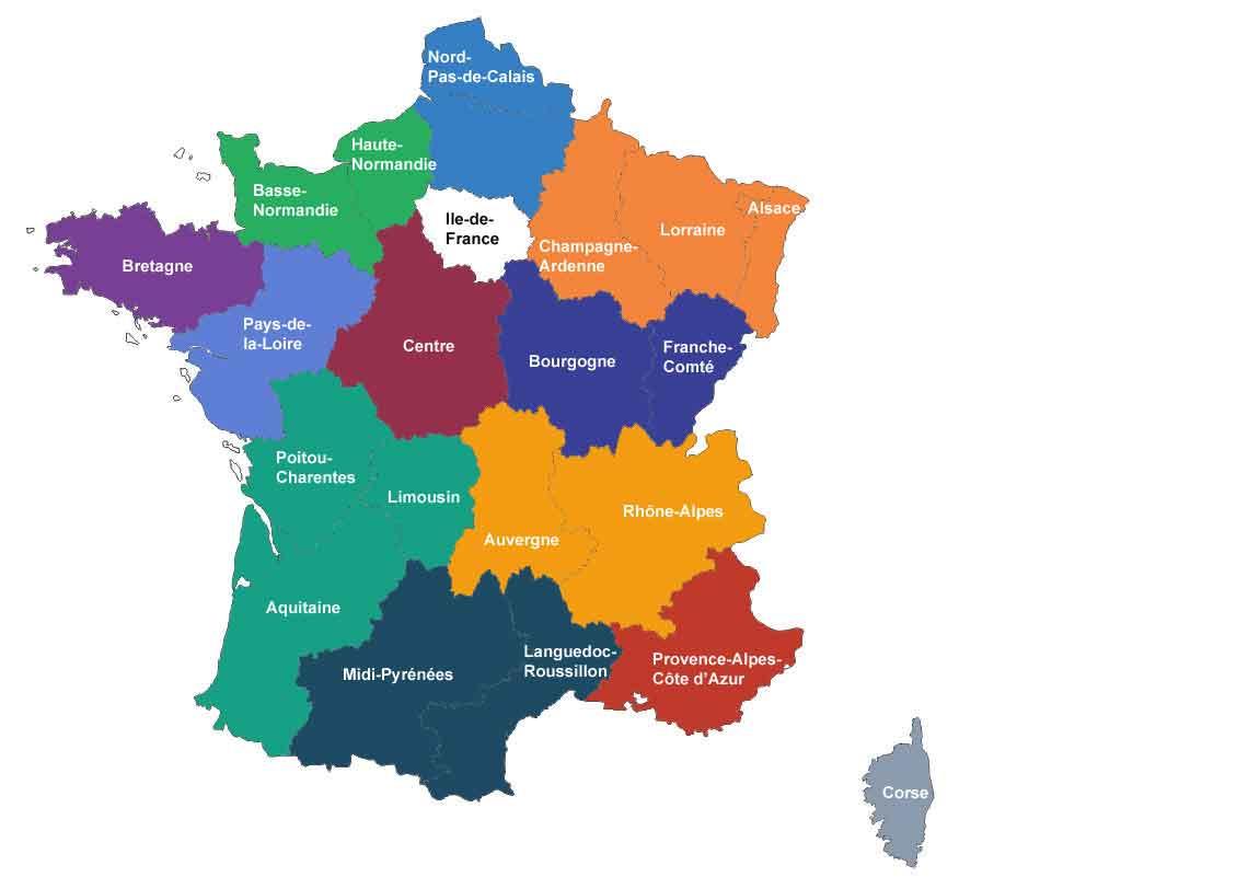 L'assemblée Donne Son Feu Vert À La France À 13 Régions intérieur Carte Des Régions Françaises
