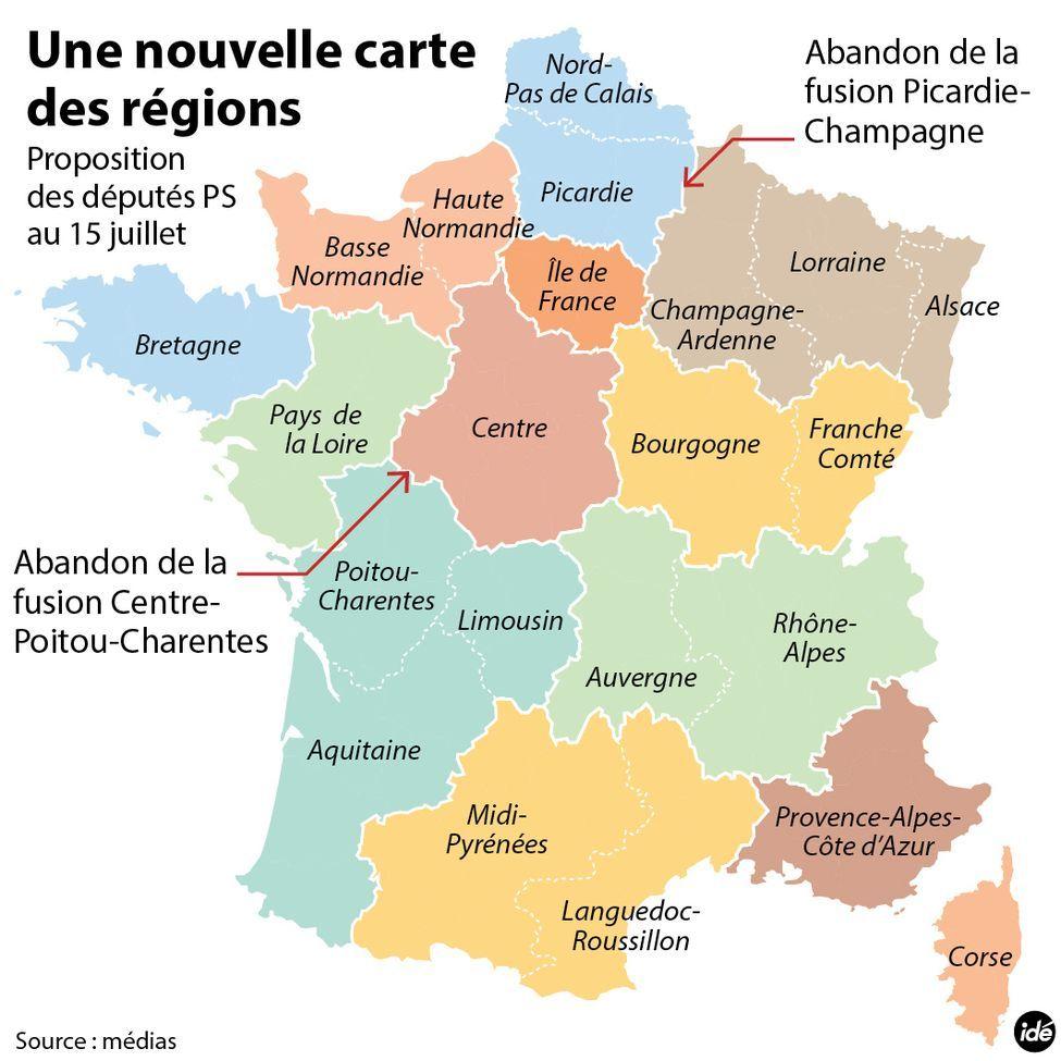 L'assemblée Nationale A Adopté La Nouvelle Carte À 13 intérieur Nouvelle Carte Des Régions De France