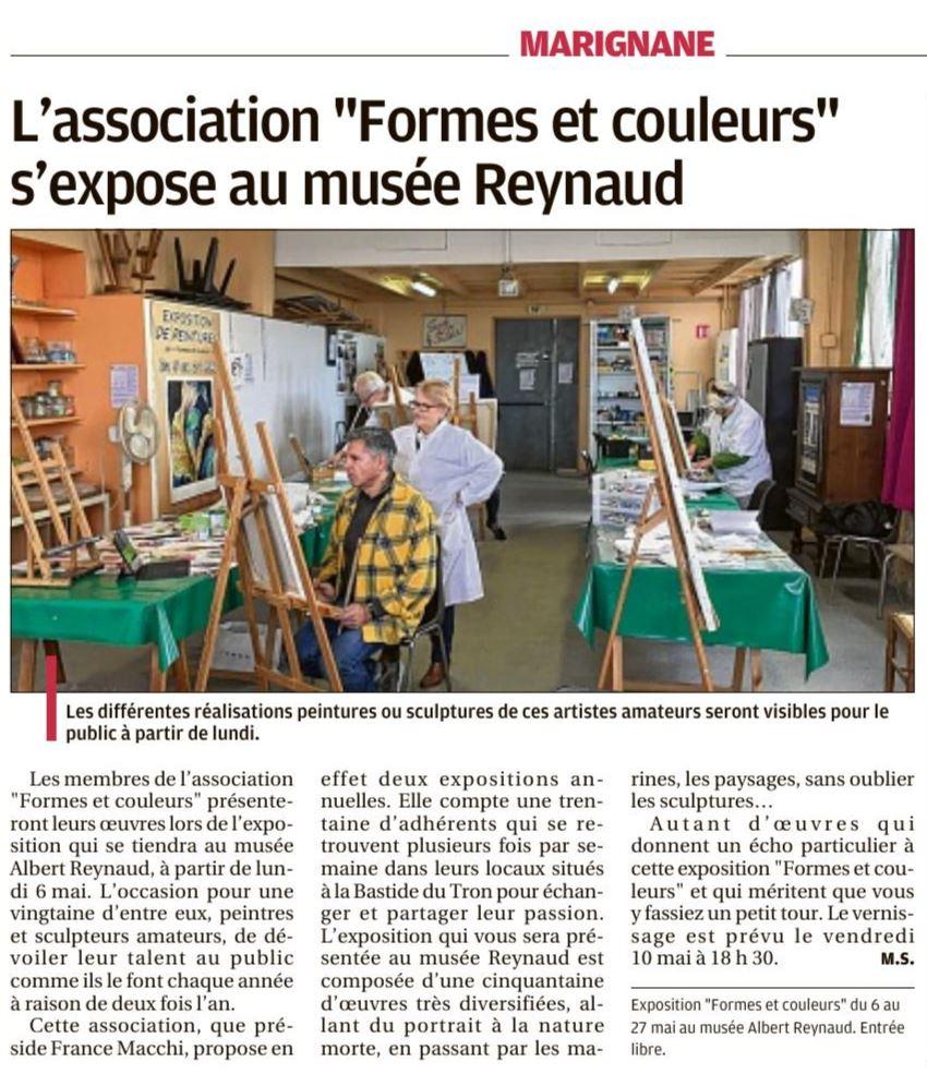 """L'association """"formes Et Couleurs"""" S'expose Au Musée Reynaud serapportantà Association De Formes"""