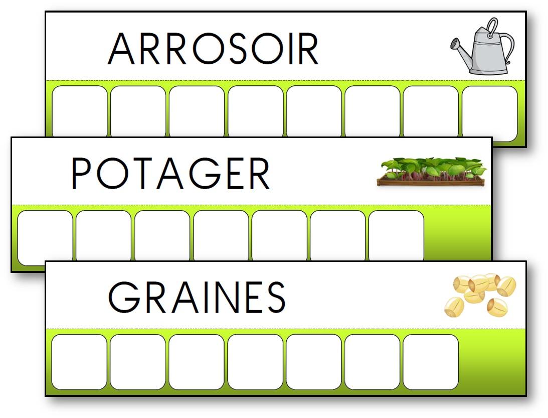 L'atelier Des Mots Des Outils Du Jardinier - Activité dedans Jeux De Lettres À Imprimer