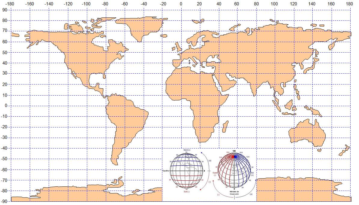 Latitude Longitude Carte Monde, Carte Du Monde destiné Carte De L Europe À Imprimer