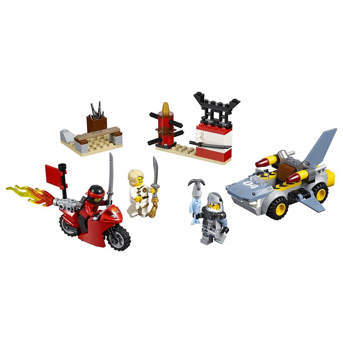 L'attaque Du Requin Lego Ninjago 10739 - Super Héros, Cinéma encequiconcerne Voiture Requin Jouet