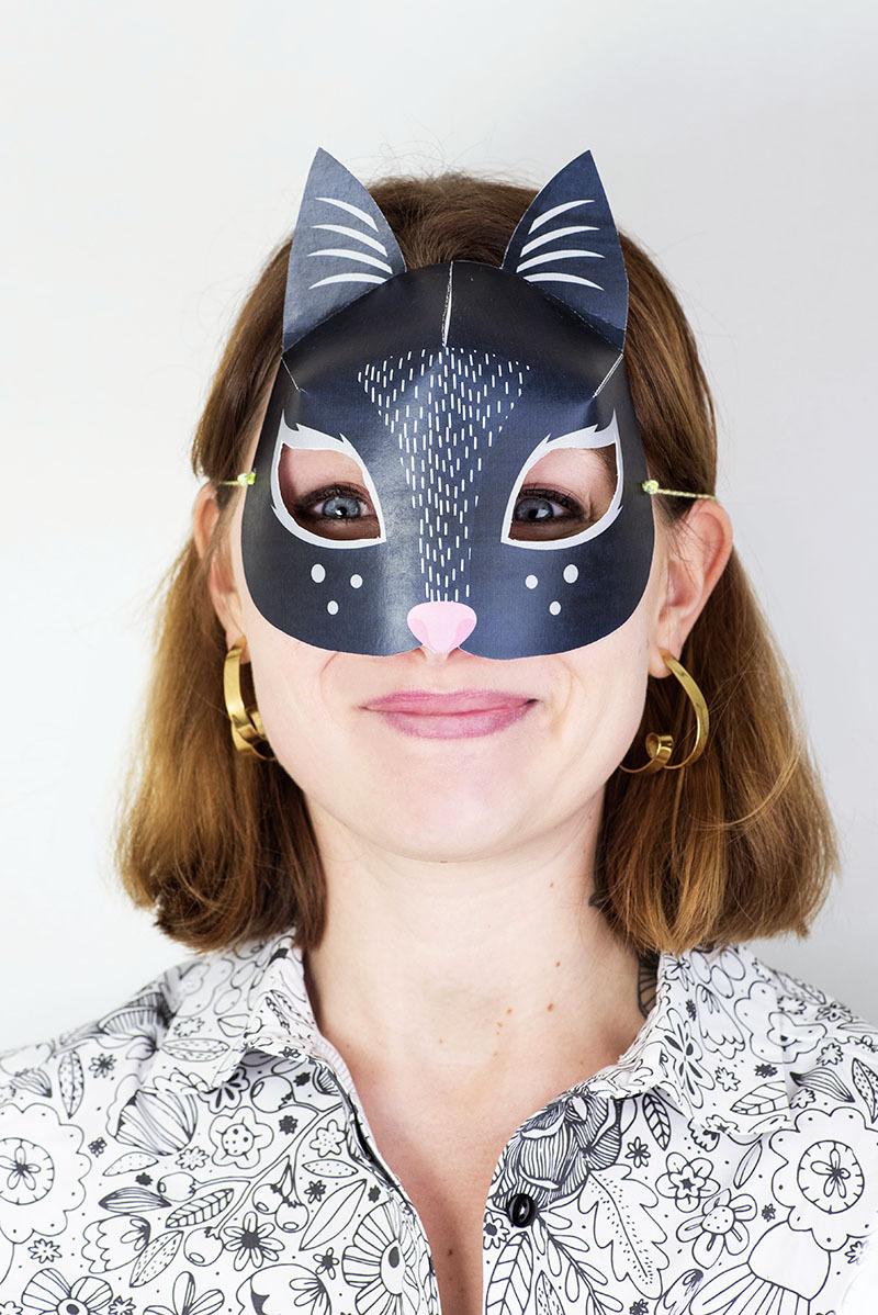Le Blog De Ludilabel — Diy : Des Masques D'animaux À concernant Masque De Catwoman A Imprimer