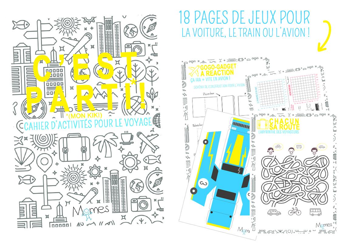 Le Cahier De Jeux Des Enfants Pour La Route - Momes avec Cahier D Activité A Imprimer