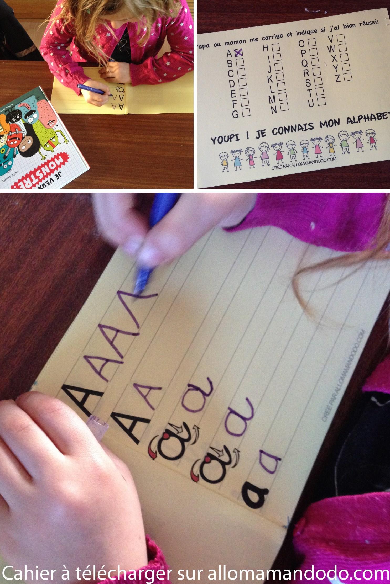 Le Cahier D'écriture De Maternelle À Télécharger ( Gratuit concernant Exercice Pour Apprendre L Alphabet En Maternelle