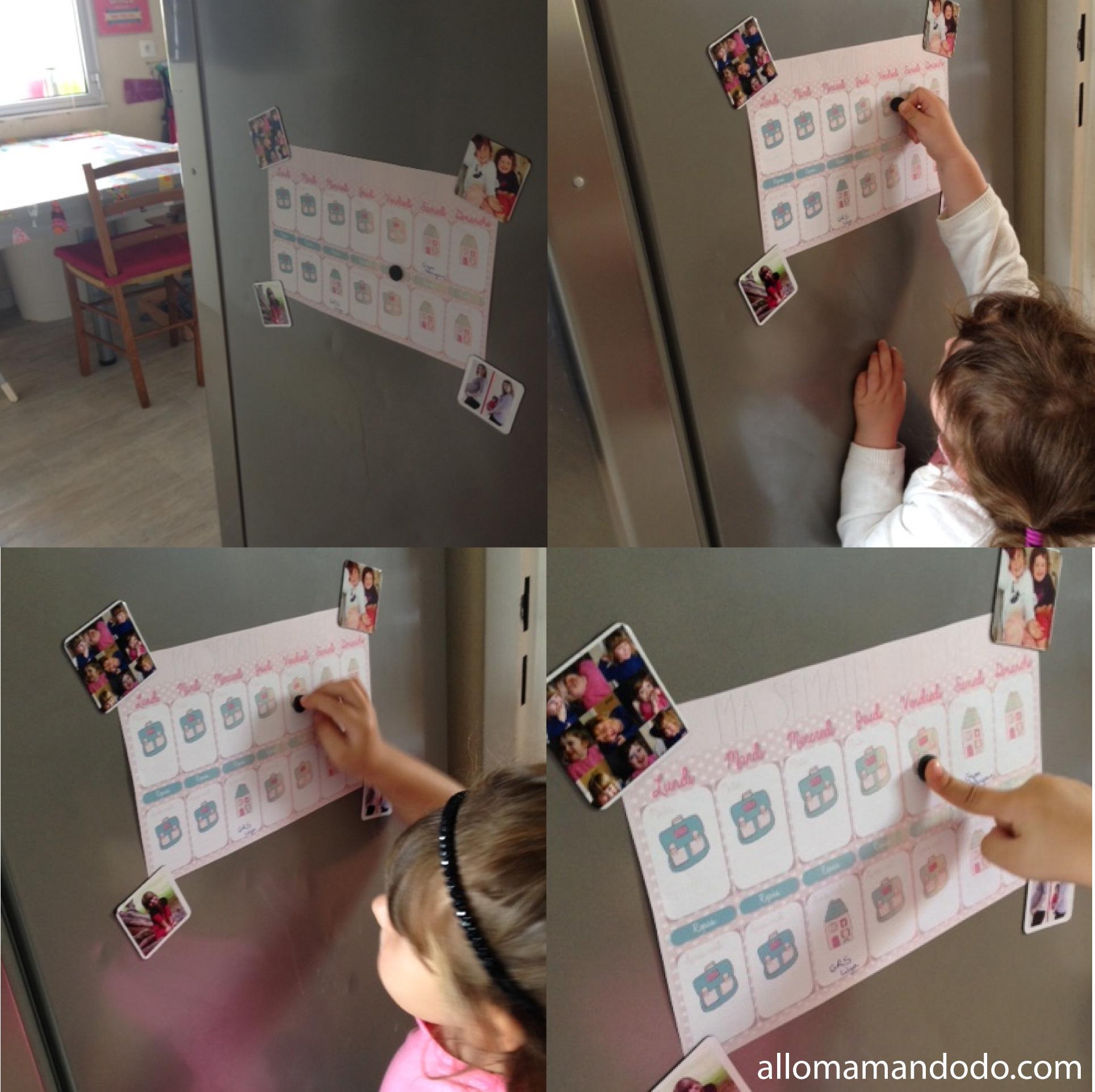 Le Calendrier De La Semaine D'école À Imprimer! (Cadeau tout Calendrier Enfant Semaine