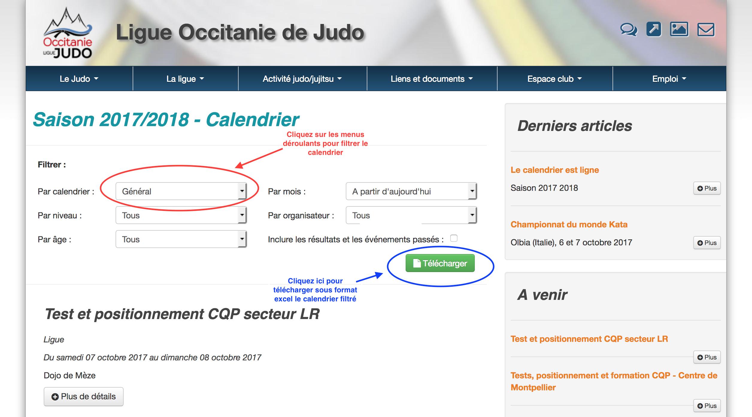 Le Calendrier Est En Ligne - Site Officiel De La Ligue intérieur Calendrier 2017 En Ligne