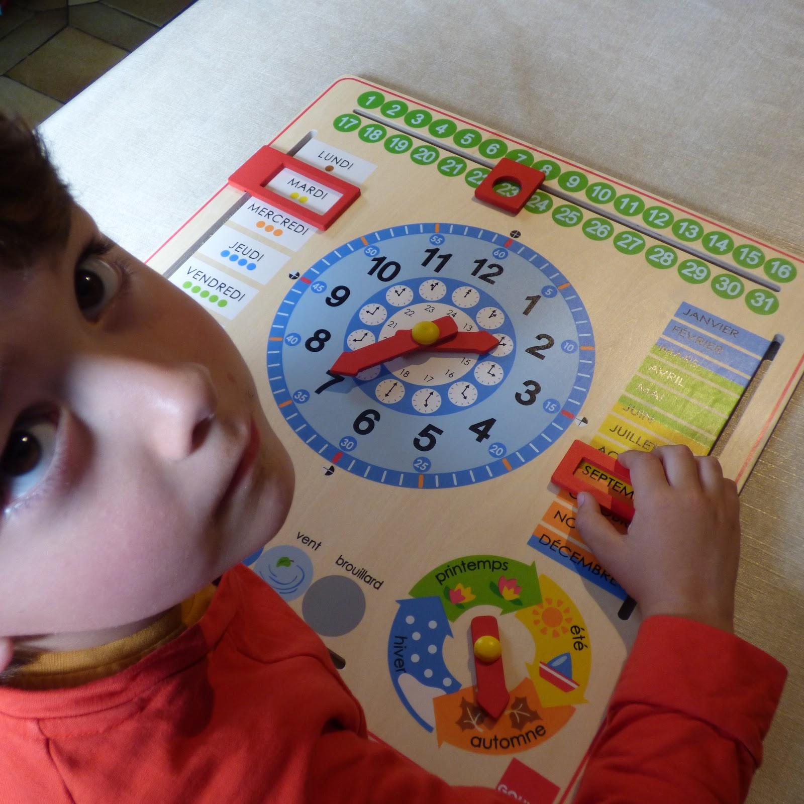 Le Calendrier Perpétuel Et Horloge De Goula Ou Comment avec Jeux Apprentissage Maternelle