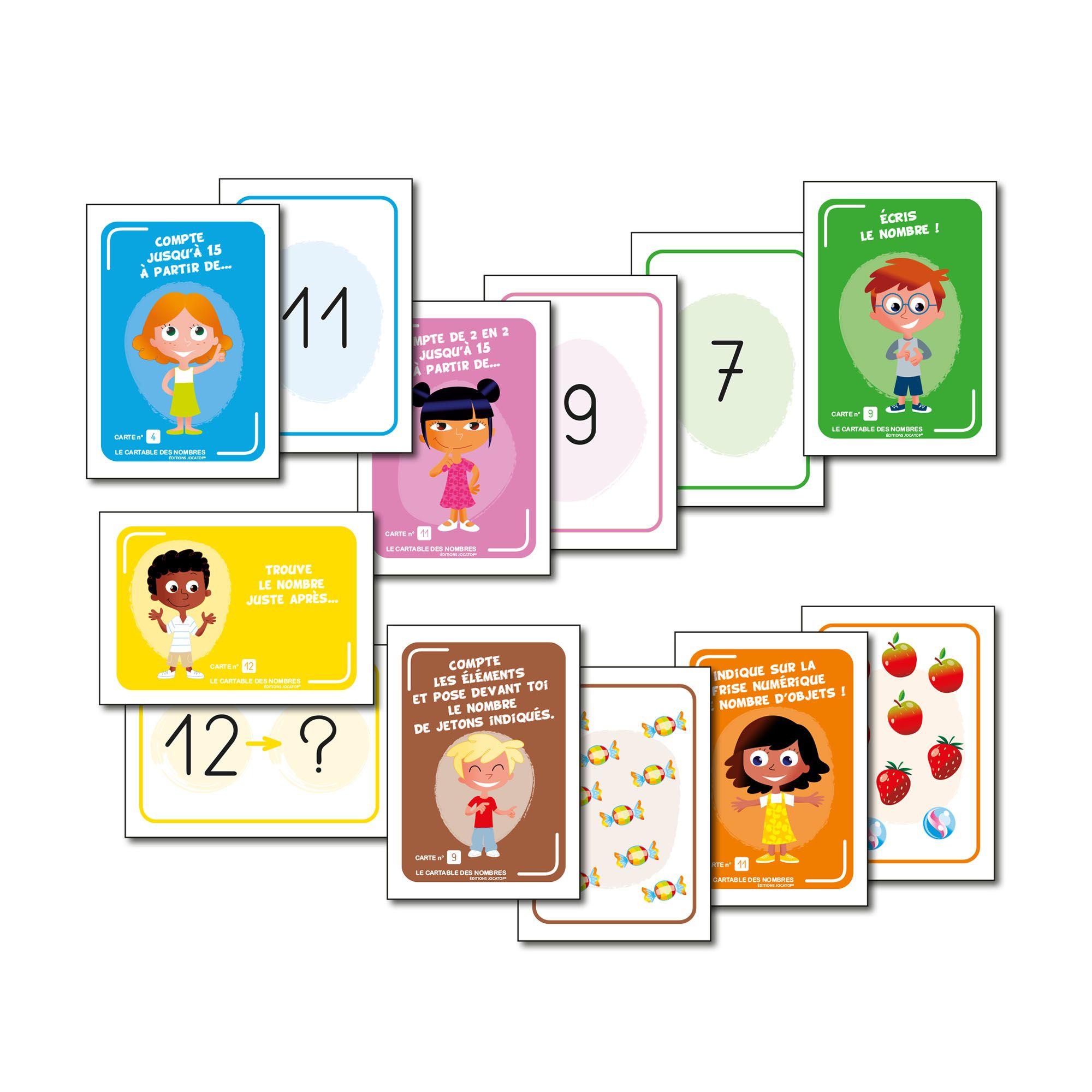 Le Cartable Des Nombres, Jeu Éducatif Pour La Grande Section serapportantà Jeux Educatif Grande Section