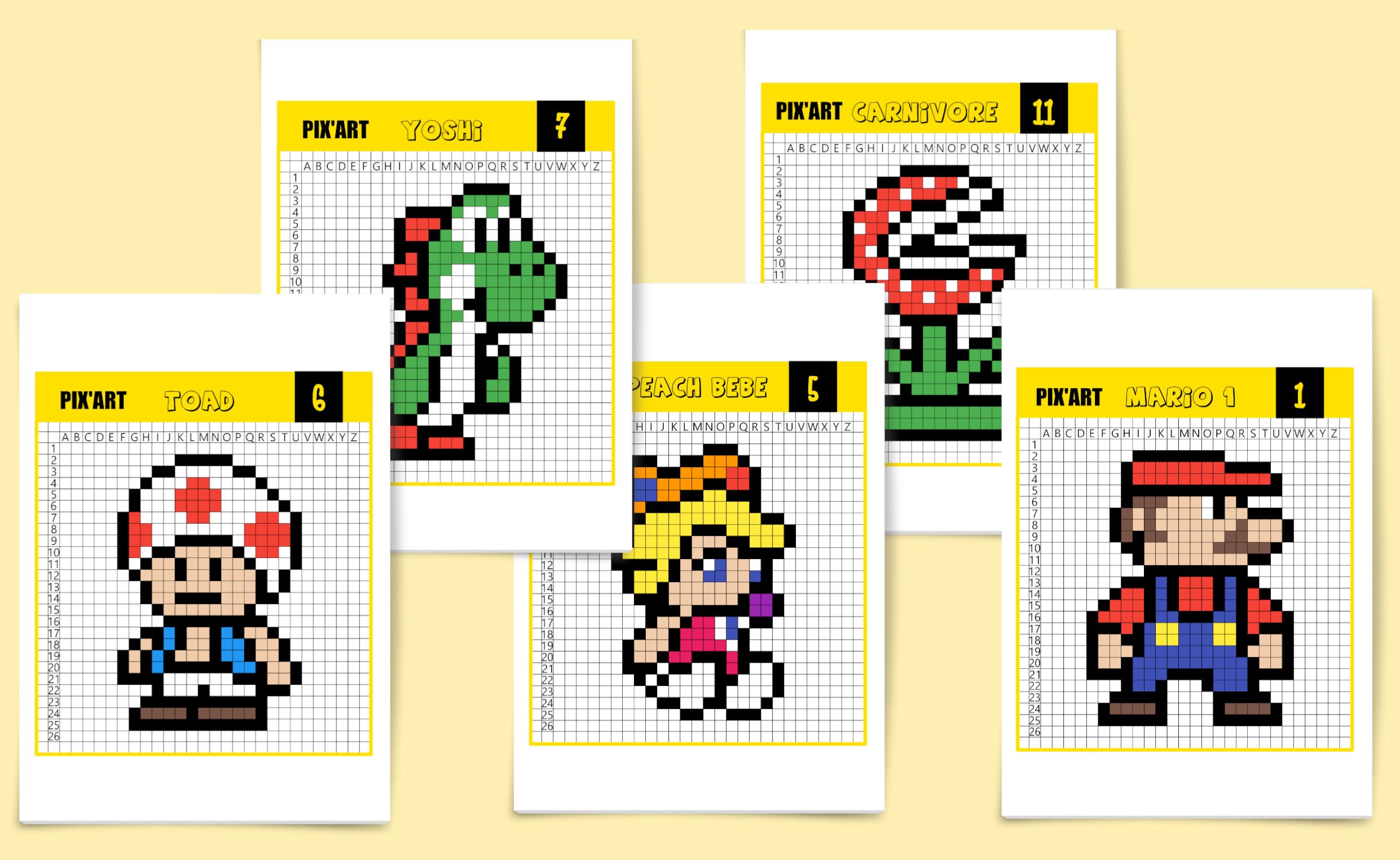 Le Célèbre Mario Bros En Pixel Art - Un Jour Un Jeu destiné Pixel A Colorier