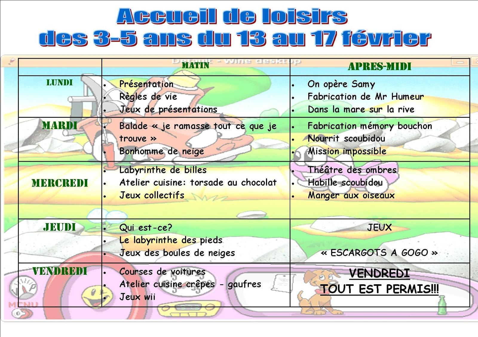 """Le Centre De Loisirs D'yerville: """"les Jeux"""" Attendent Les 3 avec Jeux Pour 3 5 Ans"""