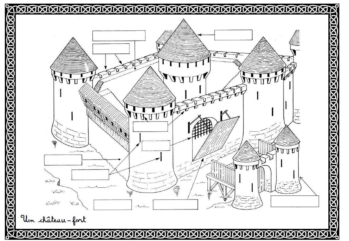 Le Château-Fort serapportantà Image De Chateau Fort A Imprimer