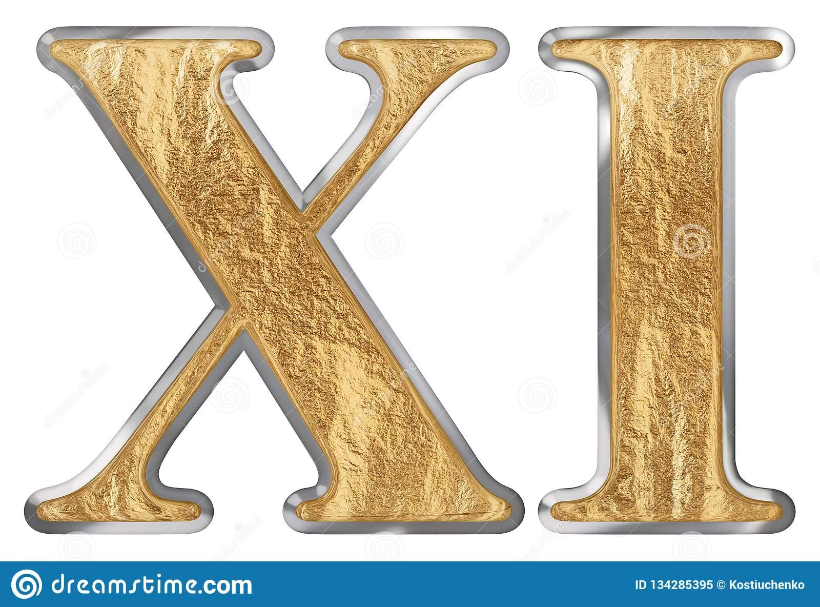 Le Chiffre Romain Xi, L'undecim, 11, Onze, D'isolement Sur pour Dessin Chiffre Romain