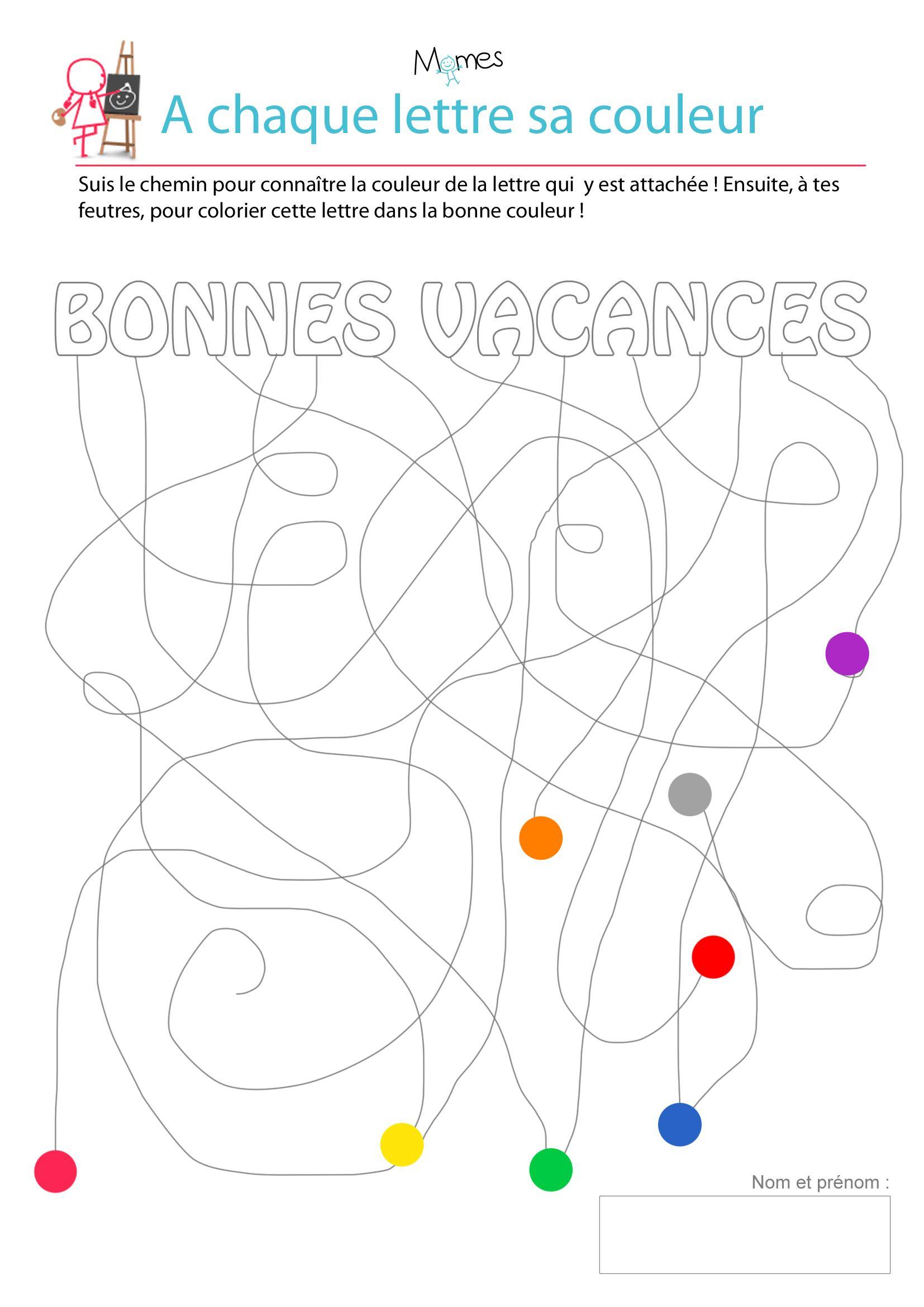 Le Circuit Des Vacances - Exercice De Graphisme | Jeux A à Cahier De Vacances Moyenne Section A Imprimer