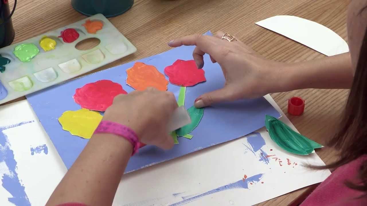 Le Collage De Fleurs - Tutokid - Tutoriel De Dessin, Peinture, Découpage Et  Collage Pour Les Enfants concernant Decoupage Pour Enfant