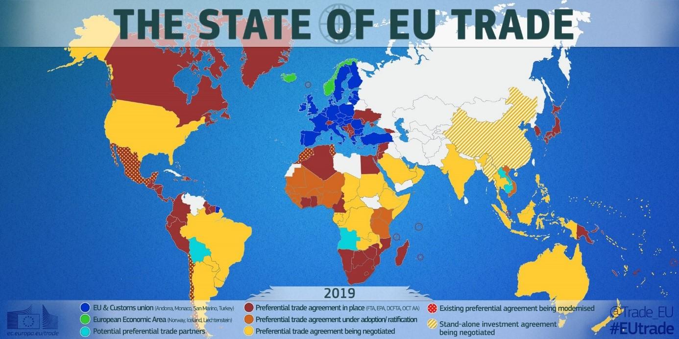 Le Commerce Extérieur De L'union Européenne - Commerce dedans Carte De L Union Europeenne