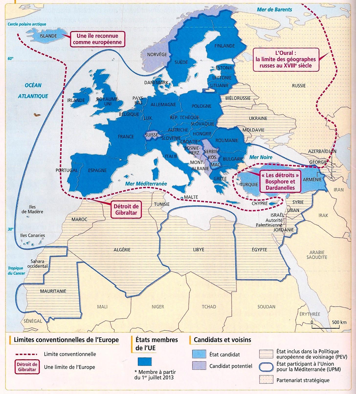 Le Continent Européen, Ses Divisions Et Ses Limites - Profs à Carte Europe De L Est