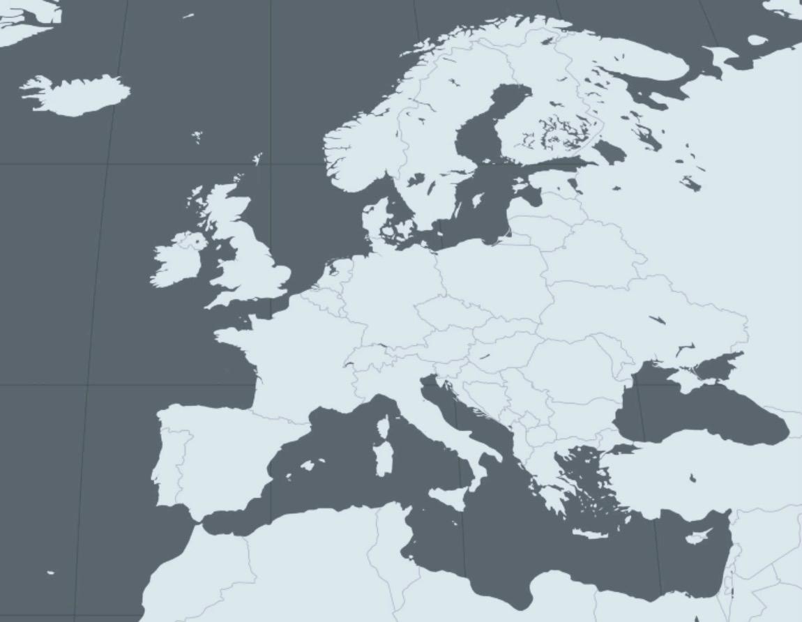 Le Continent Européen, Ses Divisions Et Ses Limites - Profs avec Carte Europe Vierge