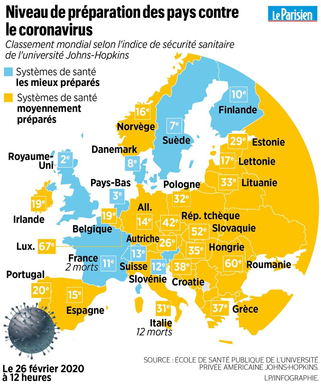 Le Coronavirus Frappe L'europe : Trois Cartes Pour à Combien De Region En France