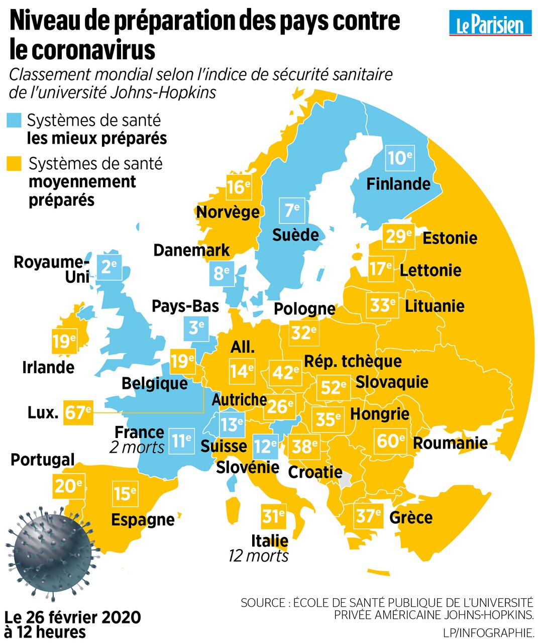 Le Coronavirus Frappe L'europe : Trois Cartes Pour intérieur Carte Des Pays D Europe
