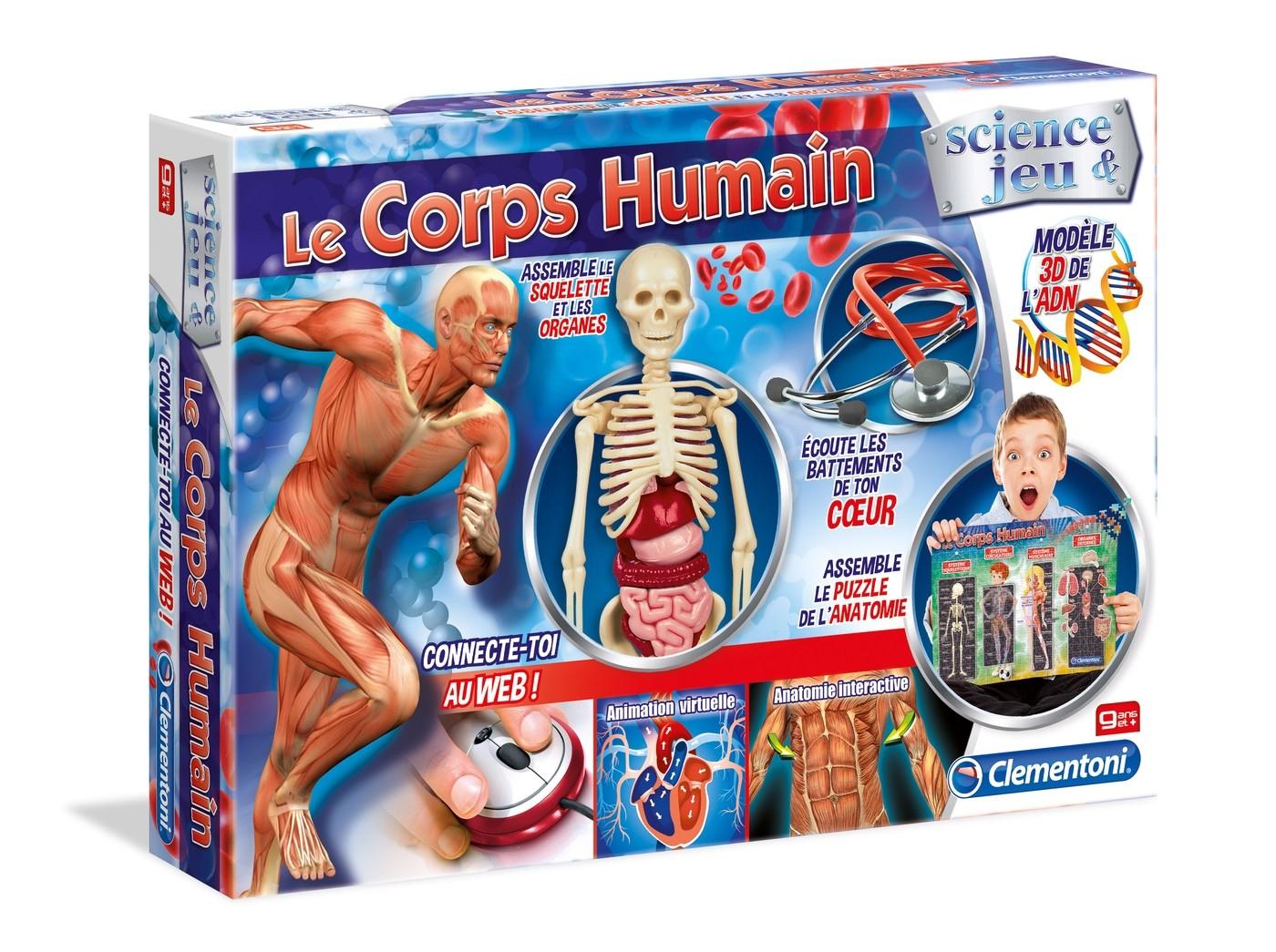 Le Corps Humain Clementoni Un Jeu Scientifique Amusant destiné Jeux De Squelette Gratuit