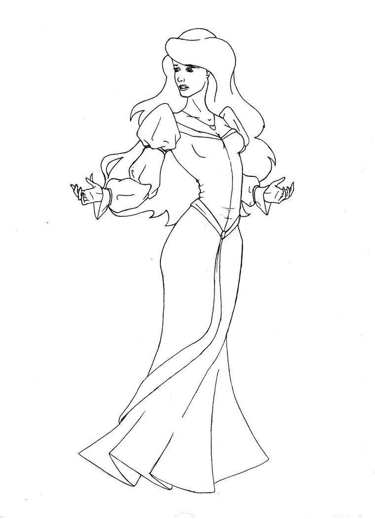 Le Cygne Et La Princesse Coloriage | Coloriages À Imprimer avec Coloriage Dora Princesse