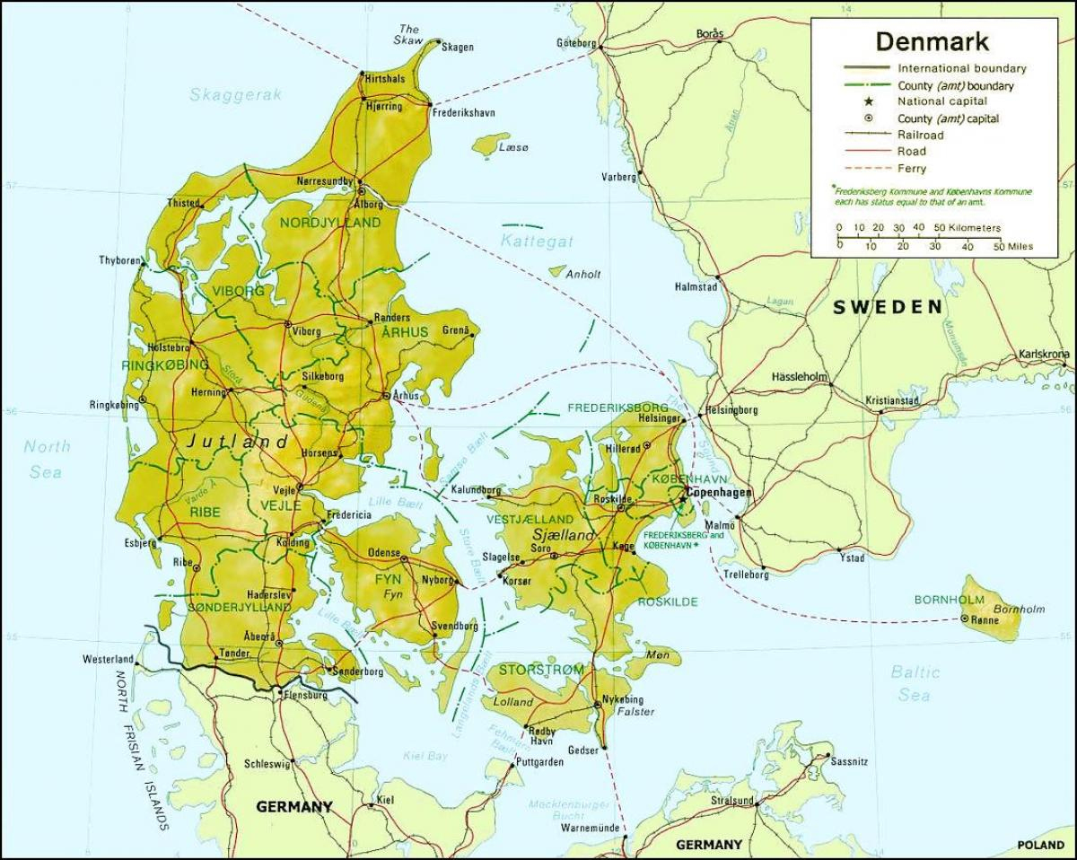 Le Danemark Géographie Carte - Carte Du Danemark, De La avec Carte Géographique Europe