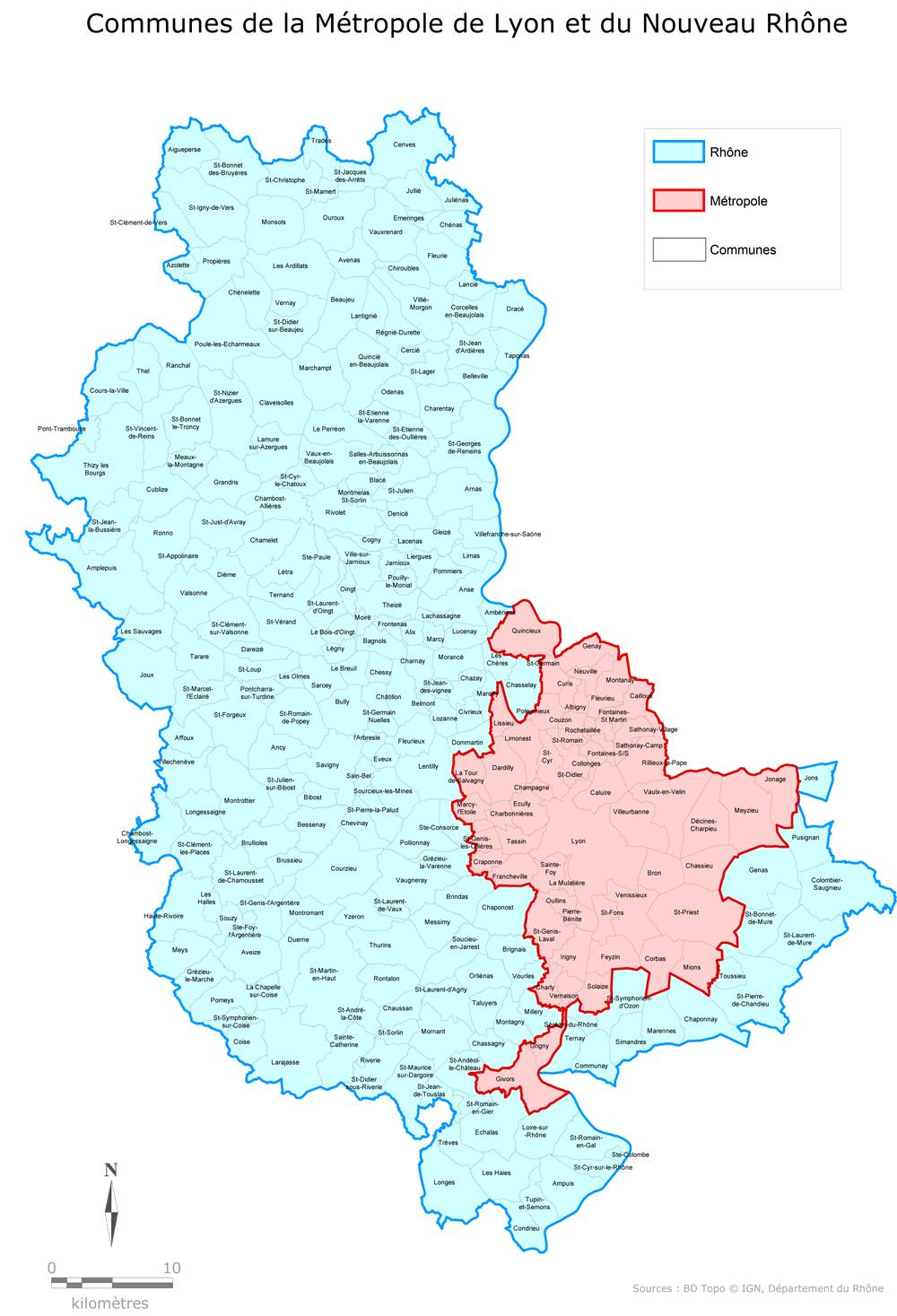 Le Département Du Rhône Réorganisé En 13 Cantons - Annie destiné Département 13 Carte