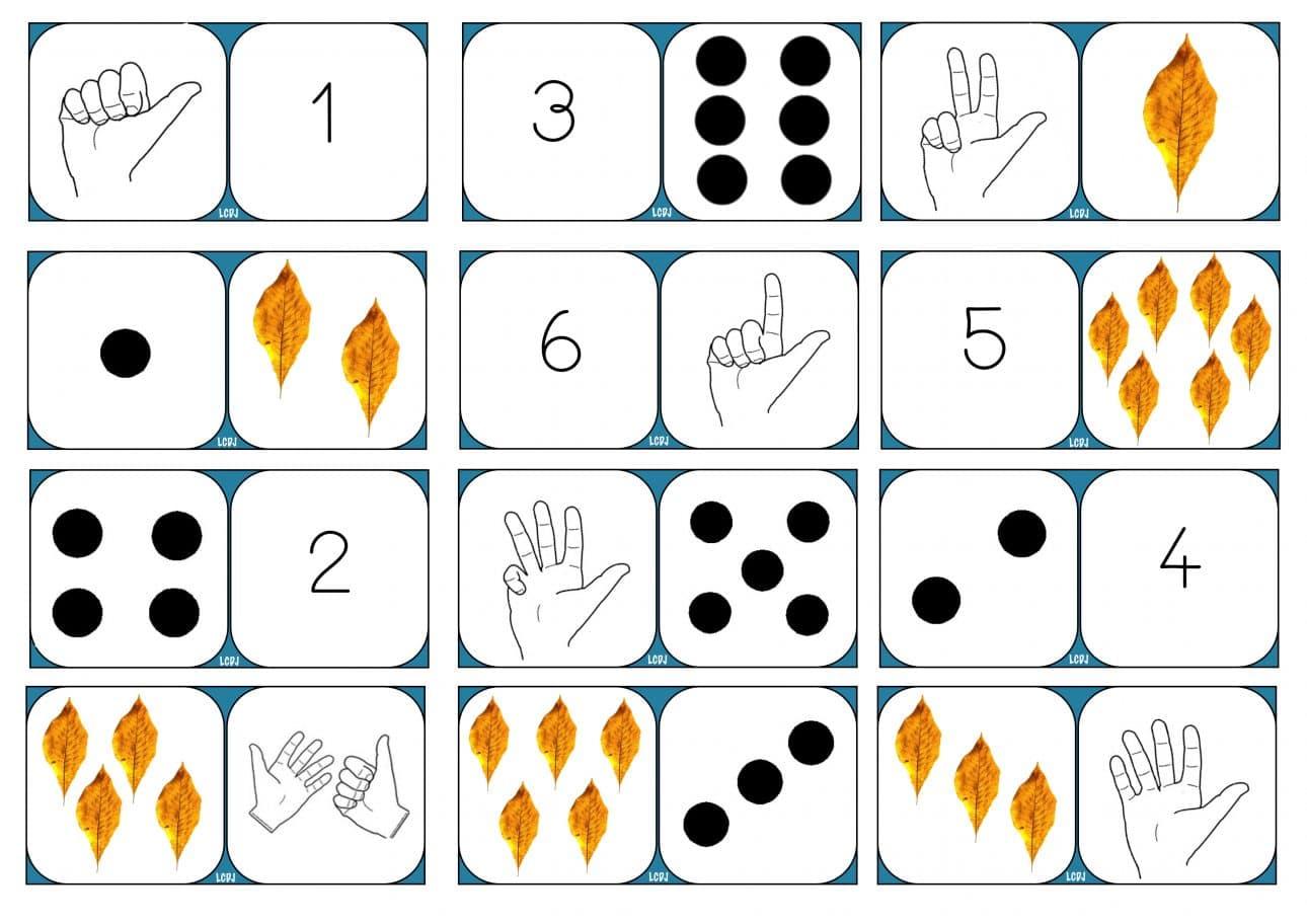 Le Domino Des Nombres - Mathématiques Grande Section pour Chiffre A Decouper
