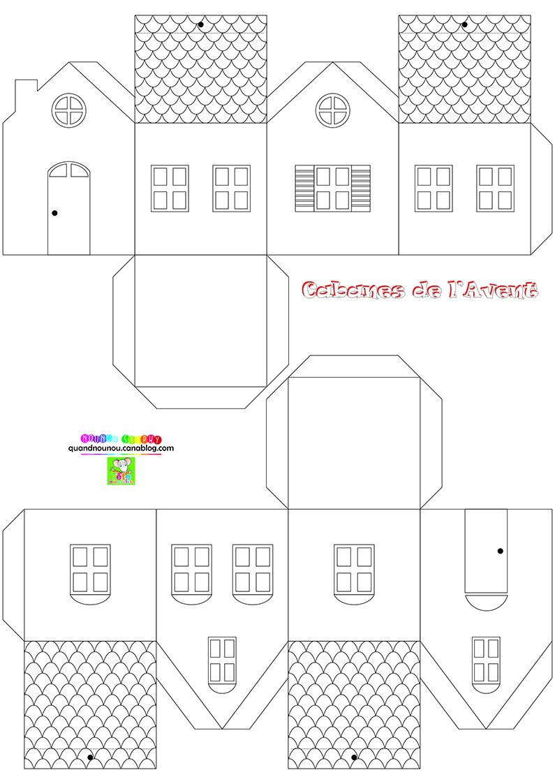Le Gabarit Du Chalet En Papier À Suspendre tout Découpage Collage Maternelle À Imprimer