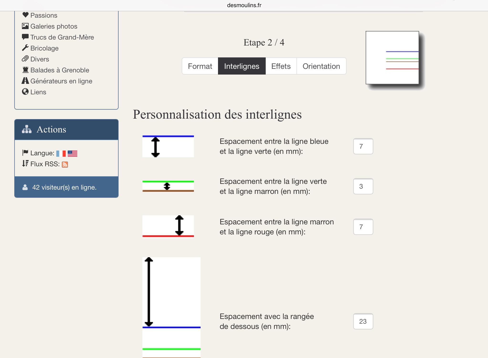 Le Générateur De Feuilles : Http://.desmoulins.fr pour Feuille Lignée A Imprimer