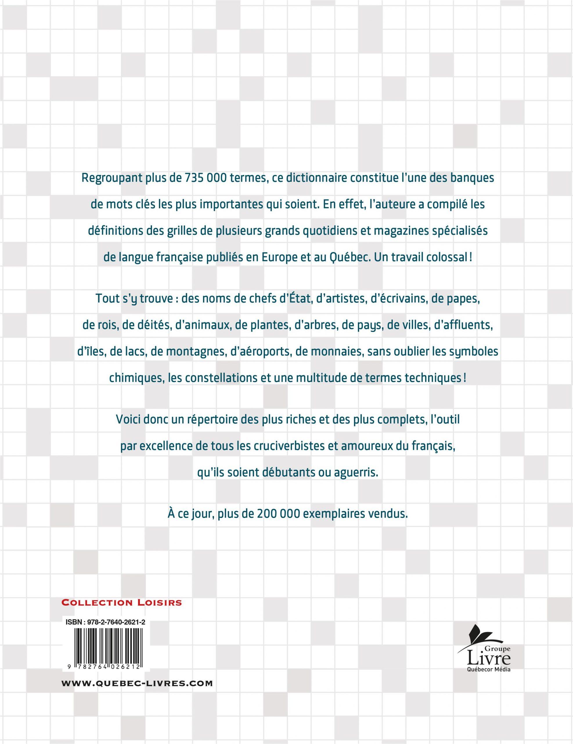Le Grand Dictionnaire Des Mots Croisés intérieur Mots Croisés Pour Débutants