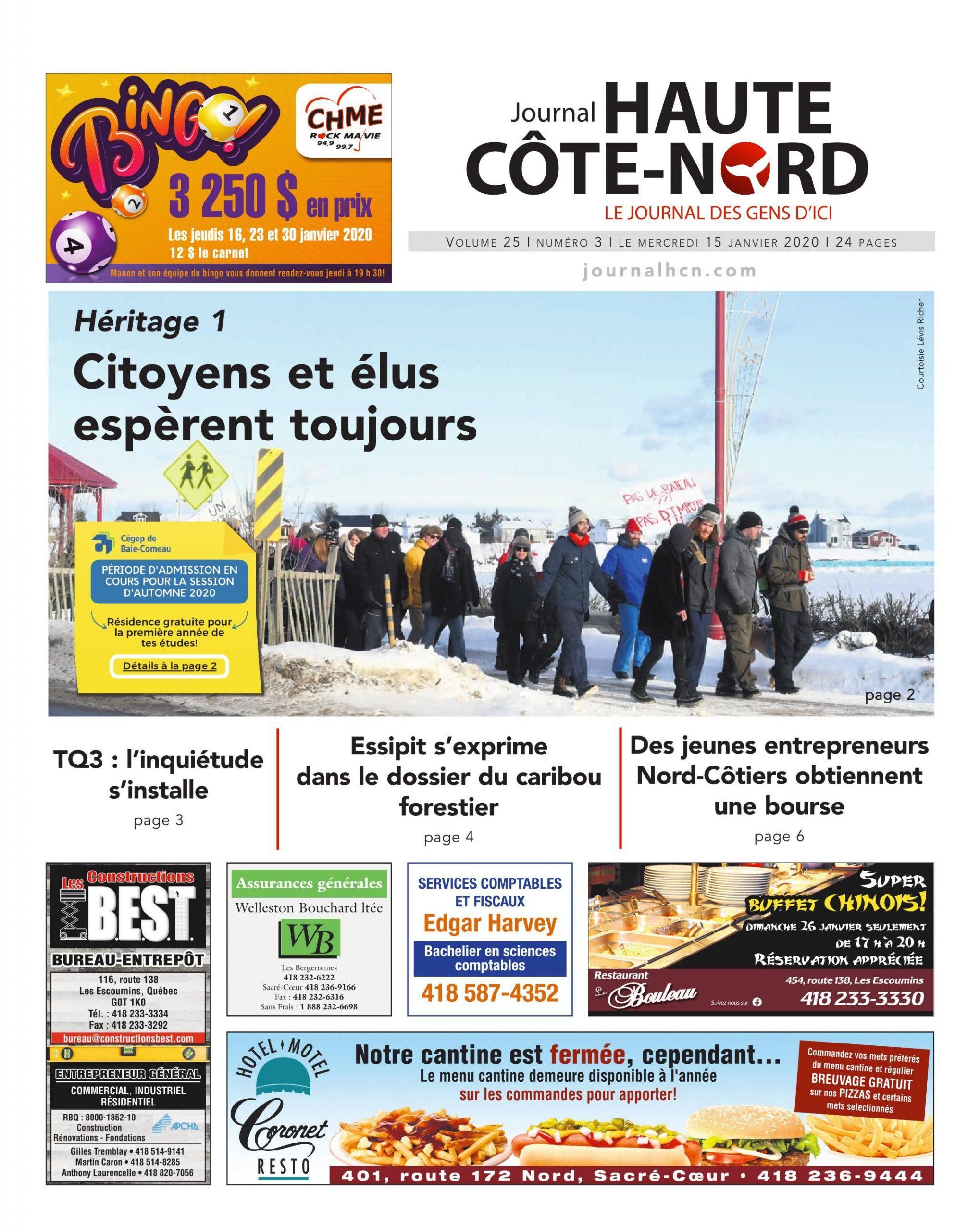 Le Haute-Côte-Nord 15 Janvier 2020 Pages 1 - 24 - Text avec Sudoku Gratuit Enfant