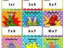 Le Jeu De Bataille Des Monstres - Multiplications - Jeu De Cartes dedans Tables De Multiplication Jeux À Imprimer