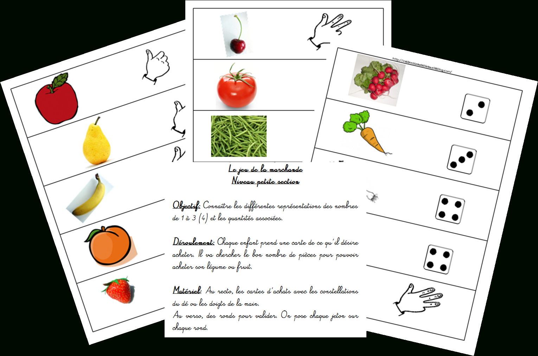 Le Jeu De La Marchande (1) - Nombres De 1 À 3 - Maitresse intérieur Jeux Didactiques Maternelle