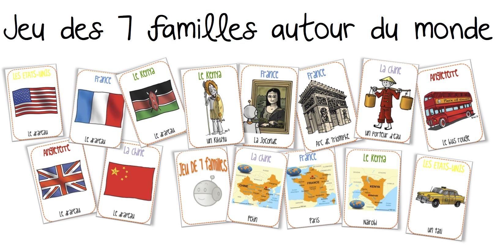 Le Jeu Des 7 Familles Autour Du Monde | Bout De Gomme à Jeu En Anglais À Imprimer