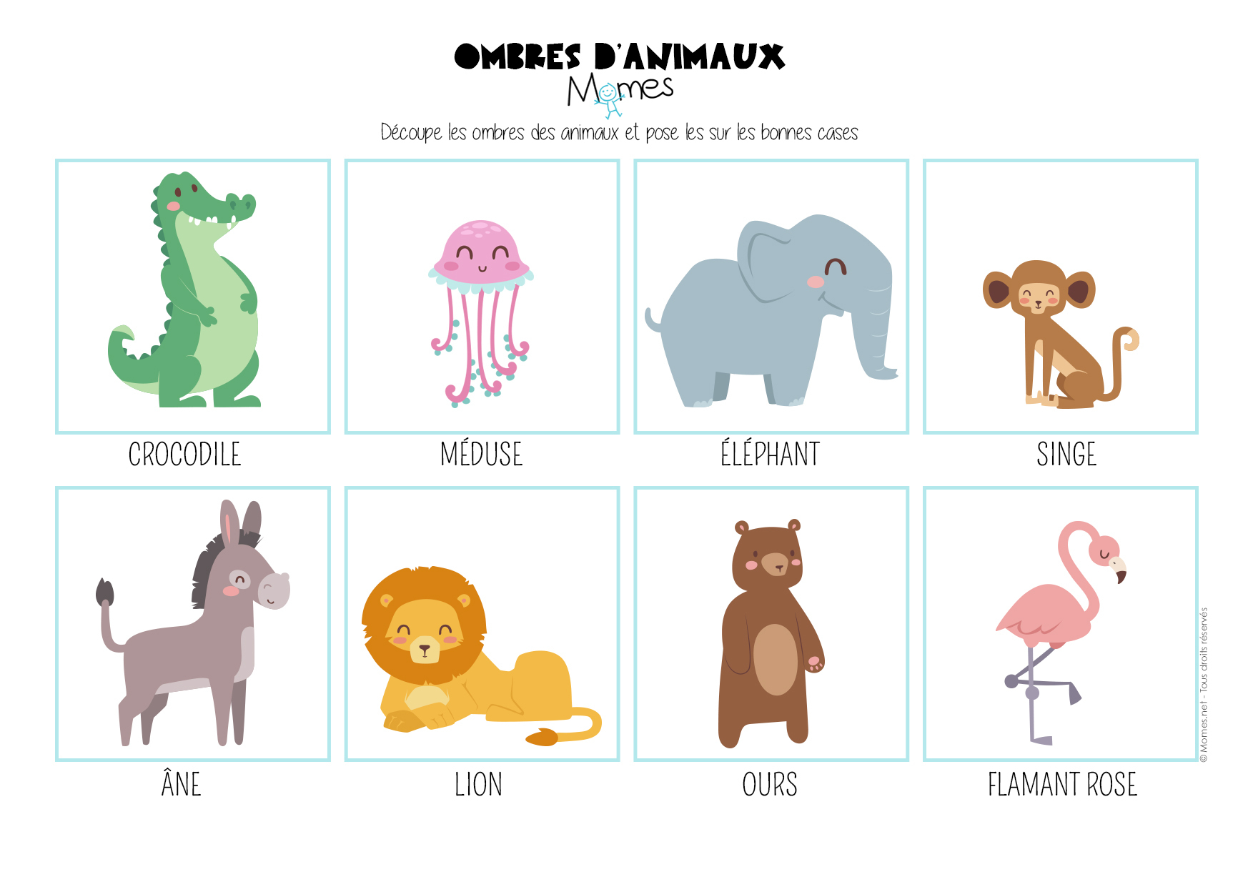 Le Jeu Des Ombres D'animaux - Momes encequiconcerne Apprendre Les Animaux Jeux Éducatifs