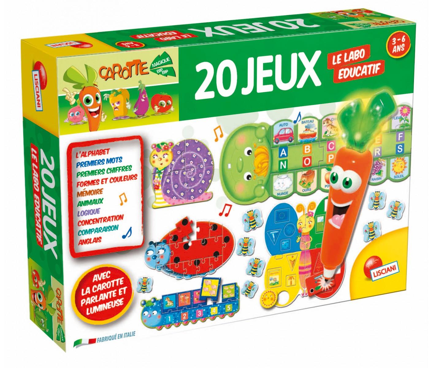 Le Labo Educatif Carotte Magique 20 Jeux pour Jeu Educatif 3 Ans